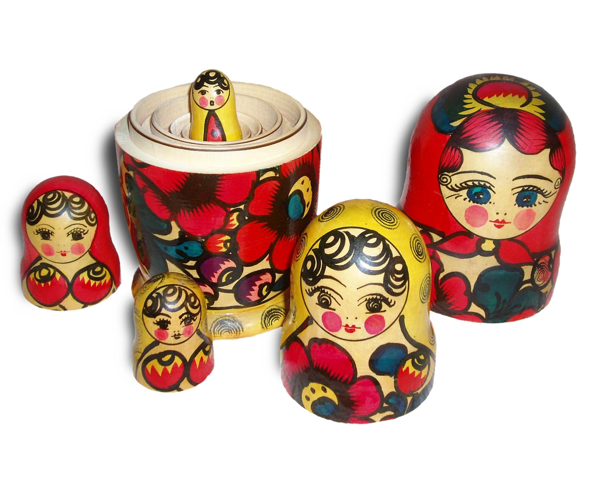 Matryoshka dolls.