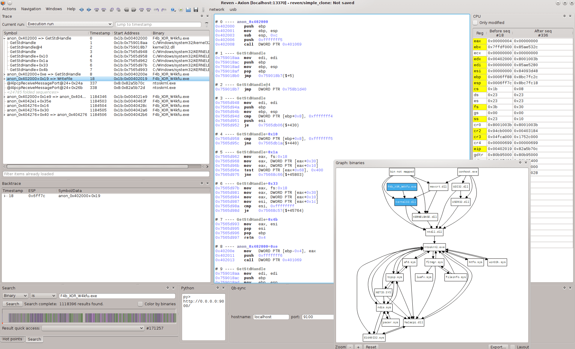 Tetrane - Automated Reverse Engineering Platform